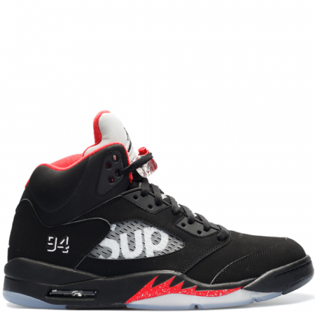 Air Jordan 5 Retro Supreme 'Black' (824371 001)