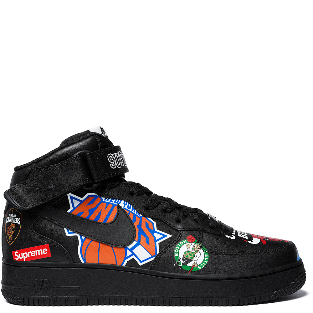 competitive price 9ad04 c0420 Nike Air Force 1 Mid Supreme NBA 'Black'