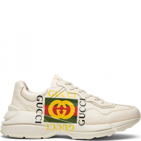 Gucci Rhython Leather Sneaker 'Square Logo' (00878 DRW00 9522)