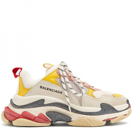 Balenciaga Triple S Trainer 'White Yellow' (Women) (2018) (490672 9035)