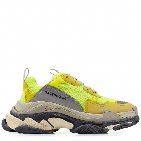 Balenciaga Triple S Trainer 'Neon Yellow' (2018) (512175 W09O4 7320)