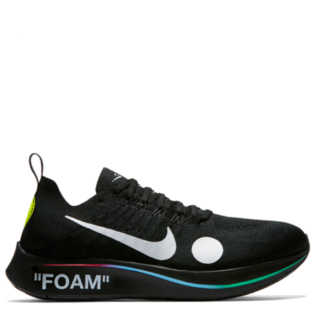 Nike Zoom Fly Mercurial Flyknit Off-White 'Black' (AO2115 001)