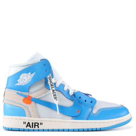 Air Jordan 1 Retro High OG Virgil Abloh Off-White 'UNC' (AQ0818 148)