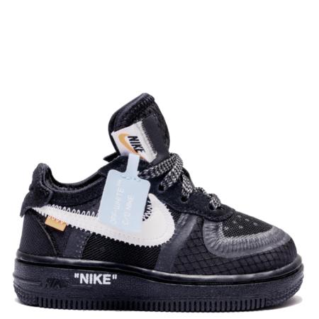 Nike Air Force 1 Low Off-White TD 'Black' (Toddler) (BV0853 001)