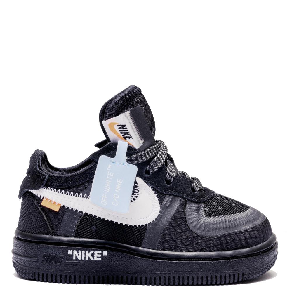 Nike Air Force 1 Low Off-White TD 'Black' (Toddler)