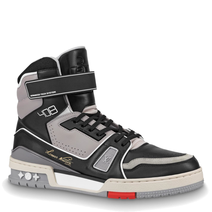 Louis Vuitton LV Trainer Sneaker Boot 'Black Grey' (1A54IS)