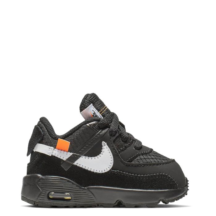 Nike Air Max 90 Off-White TD 'Black' (Toddler) (BV8052 001)
