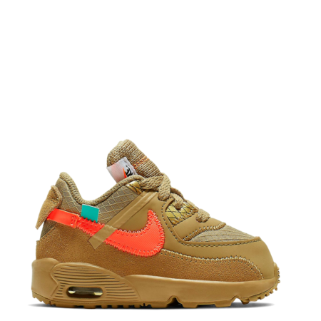 Nike Air Max 90 Off-White TD 'Desert Ore' (Toddler) (BV8052 200)