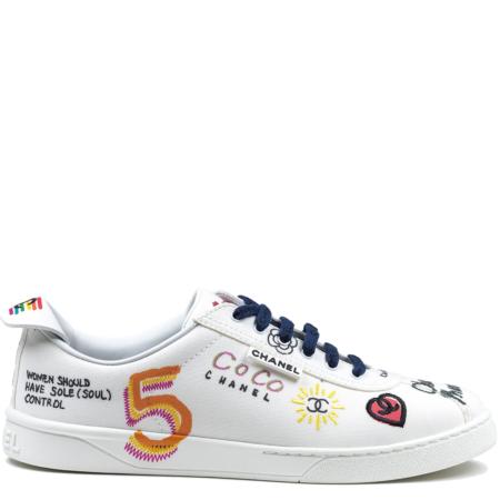 Chanel White Canvas Sneaker Pharrell Williams 'Multi-Colour' (19D G34878X53027 C2340 10B)