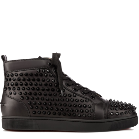 Christian Louboutin Louis Spikes Leather 'Black' (1101083B049)