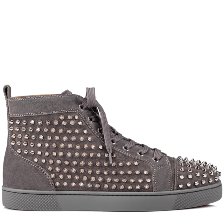 Christian Louboutin Louis Flat Spikes Suede 'Shadow' (3101212I208)