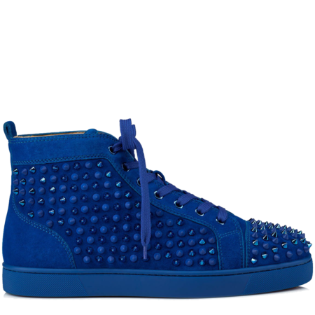 Christian Louboutin Louis Orlato Spikes Suede 'Cyclades' (3101212U497)
