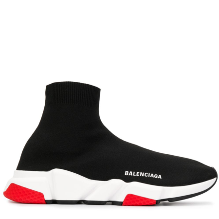 Balenciaga Speed Trainer Mid 'Black Red' (530351 W05G0 1000)