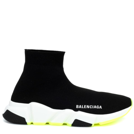 Balenciaga Speed Trainer Mid 'Black Yellow' (530455 W05G0 1000)