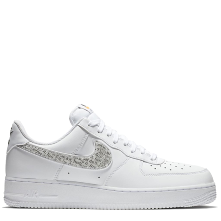 Nike Air Force 1 Low '07 LV8 LNTC 'Just Do It White' (BQ5361 100)