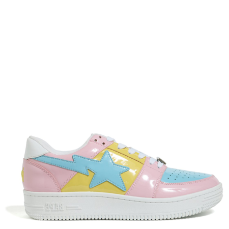 A Bathing Ape Bapesta Low 'Bicolor Pink Baby Blue' (1E80191001 001)