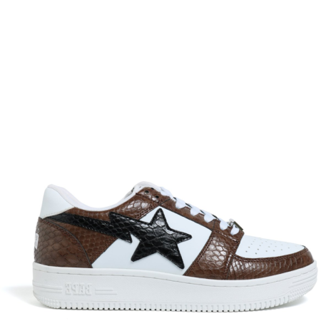 A Bathing Ape Bapesta Low 'White Snake' (1E80191003 002)