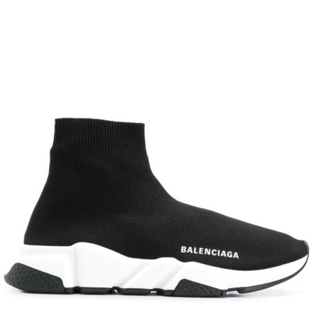 Balenciaga Speed Trainer Mid 'Black White' (525712 W05G9 1000)