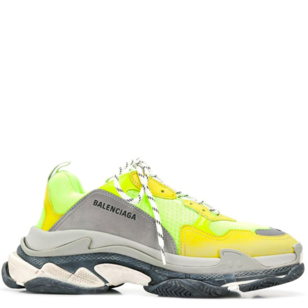 Balenciaga Triple S Trainer 'Neon Yellow Grey' (533884 W09O4)