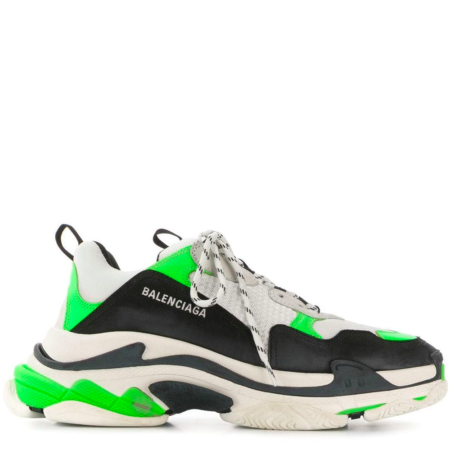 Balenciaga Triple S Trainer 'Neon Green Black' (536737 W09O6)