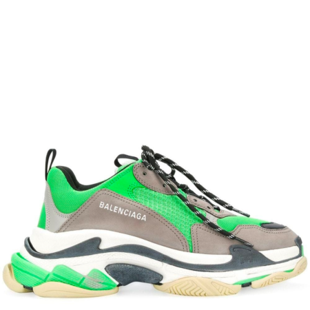 Balenciaga Triple S Trainer 'Neon Green Grey' (536737 W09OH)