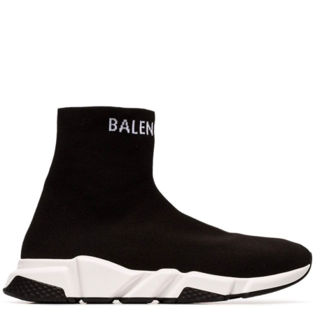 Balenciaga Speed Trainer 'Black White Logo' (549823 W1P20 1006)