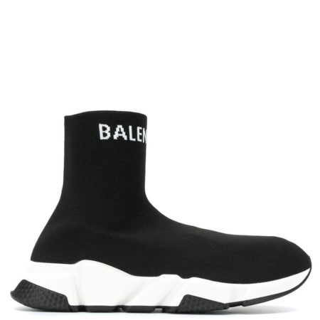 Balenciaga Speed Trainer 'Black White Logo' (W) (549972 W1P20 1000)