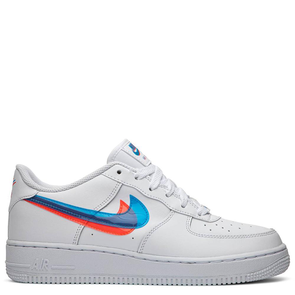 Nike Air Bv2551 100 1 Ksa Gs Force Lv8 Swoosh Weiß Sneaker