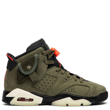 Air Jordan 6 Retro GS Travis Scott 'Olive' (CN1085 200)