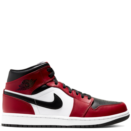 Air Jordan 1 Mid 'Chicago Black Toe' (554724 069)