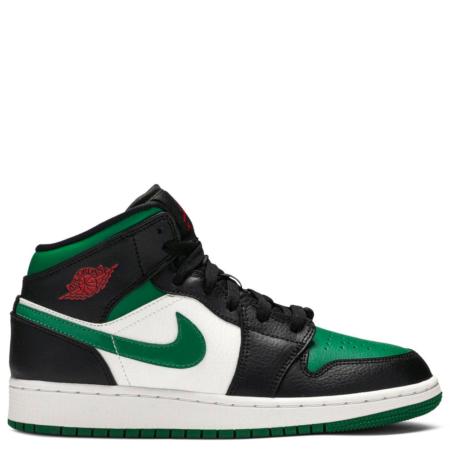Air Jordan 1 Mid GS 'Black Pine Green' (554725 067)
