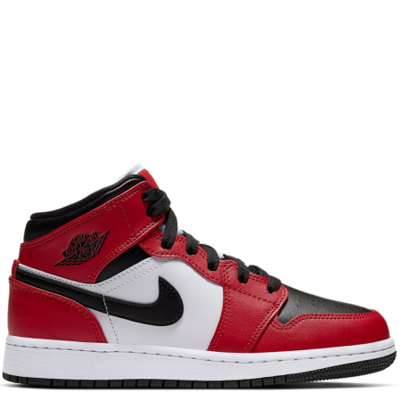 Air Jordan 1 Mid GS 'Chicago Black Toe' (554725 069)