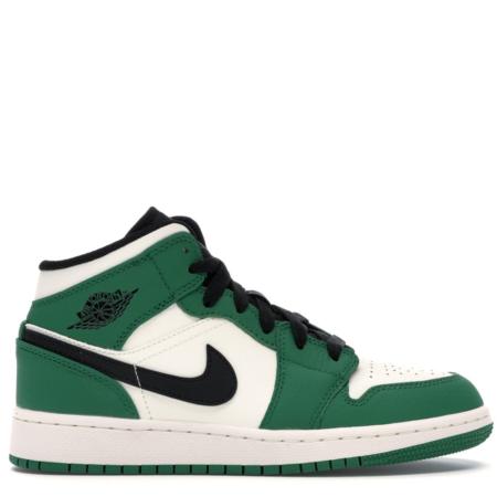 Air Jordan 1 Mid 'Pine Green' (GS) (BQ6931 301)