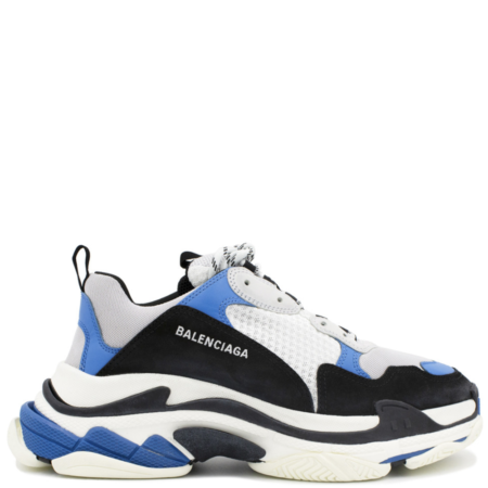 Balenciaga Triple S Trainer 'Black Blue' (536737 W09OH 1007)