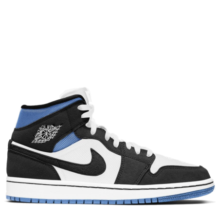 Air Jordan 1 Mid SE Mixed Materials 'Black/Blue' (BQ6472 102)