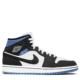 Air Jordan 1 Mid SE Mixed Materials 'Black/Blue' (BQ6472 102)