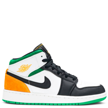 Air Jordan 1 Mid GS 'Lucky Green Laser Orange' (BQ6931 101)