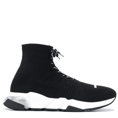 Balenciaga Speed Trainer 'Black White with Lacing' (617255W05GG)