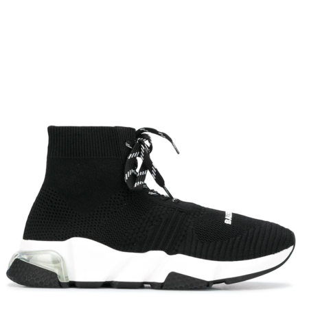 Balenciaga Speed Trainer 'Black White with Lacing' (W) (617217W05GG)