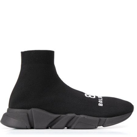 Balenciaga Speed.2 Trainer 'All Black with Logo' (617238W2A51)