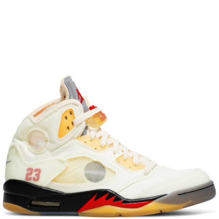Air Jordan 5 Retro Off-White 'Fire Red' (DH8565 100)
