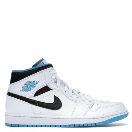 Air Jordan 1 Mid 'Laser Blue' (554724 141)