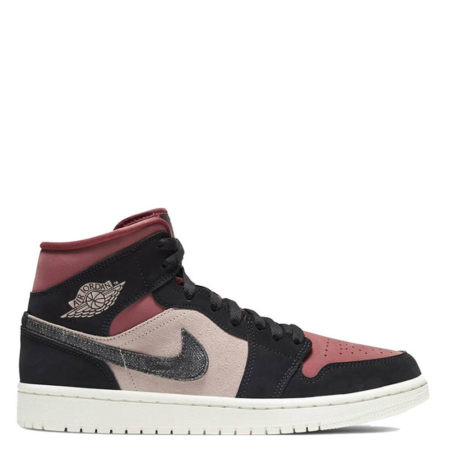 Air Jordan 1 Mid 'Burgundy Dusty Pink' (W) (BQ6472 202)